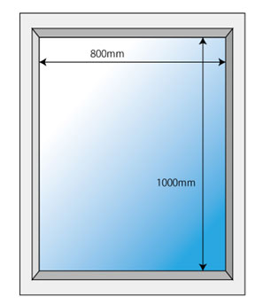 一般的な窓サイズ